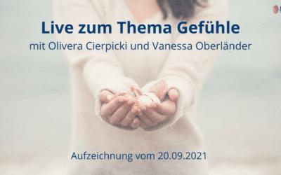 Gefühle – Online Live Event mit Olivera Cierpicki